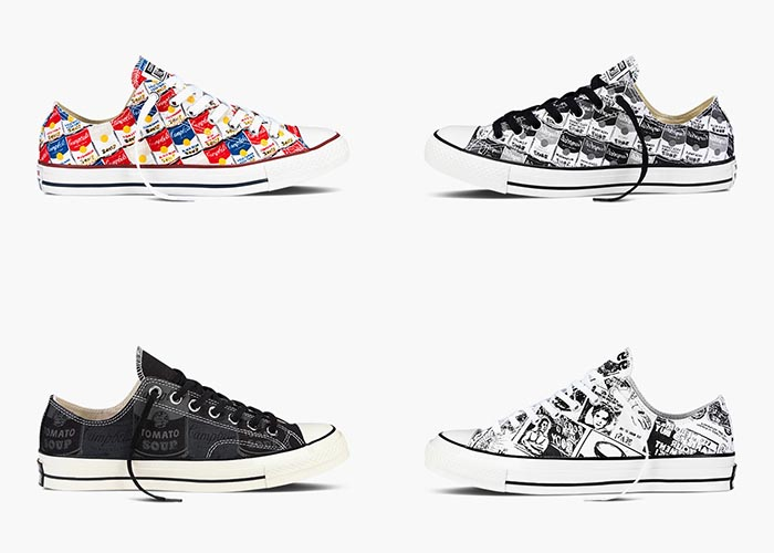 Converse All Stars x Andy Warhol collectie: low tops, high tops en wedge sneakers. Converse All Stars x Andy Warhol collectie 2015. Bekijk de collectie hier.