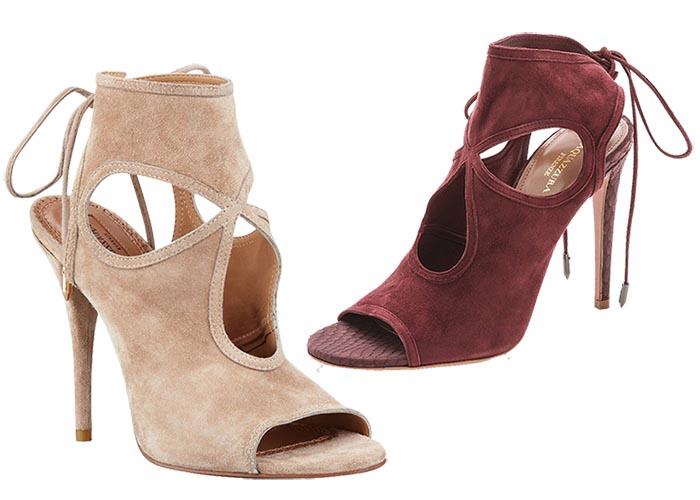 Meest mooie schoen is van Aquazzura: high heels, pumps, schoenen en meer. Alles over de meest mooie schoen van merk Aquazurra. Ontdek deze schoenen hier.