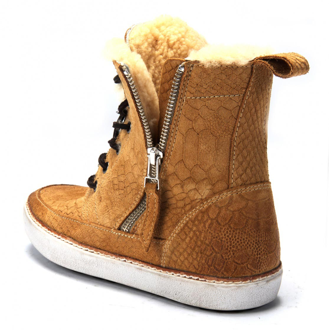 Blackstone lion reptiel sneaker high top