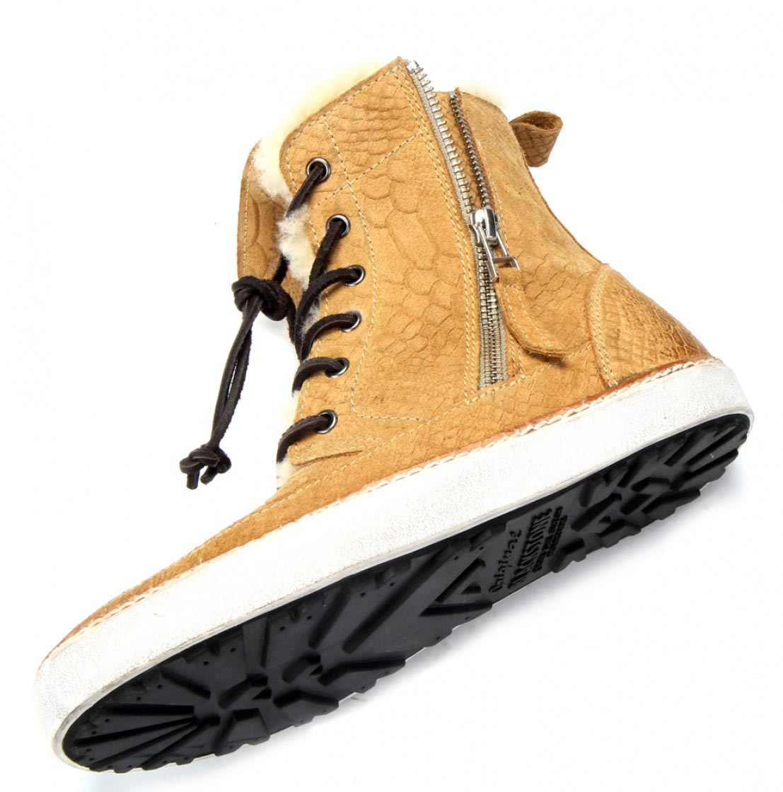 Blackstone high top reptiel sneaker
