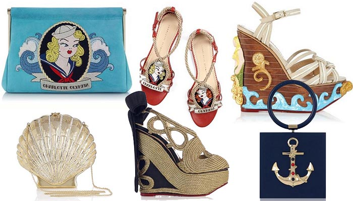 Charlotte Olympia Ocean Collection lente 2014. Alles over de Charlotte Olympia Ocean Collection lente 2014: ankers, marine en strepen. Ontdek nu.