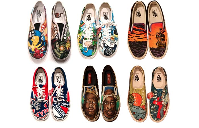 Alles over custom sneakers. Lees hier hoe je je eigen  custom sneakers kunt bestellen. Design je eigen sneakers. Elke sneaker is one of a kind!