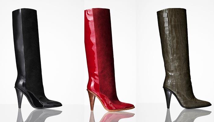 H&M studio A/W 2014 collectie nu verkrijgbaar: schoenen als laarzen en stiletto's passeren de revue. Bekijk hier de schoenen van H&M studio A/W 2014.