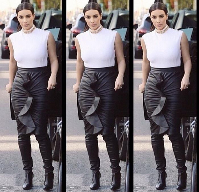 Kim Kardashian Tamara Mellon boots