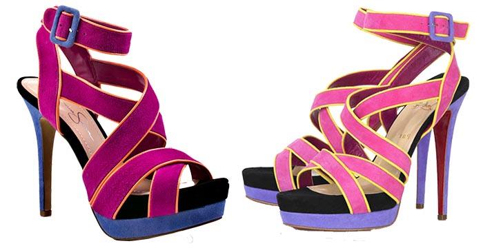 Jessica Simpson kopieert Christian Louboutin. Alles over de copycat van Jessica Simpson die pumps kopieert van schoenenkoning Christian Louboutin.