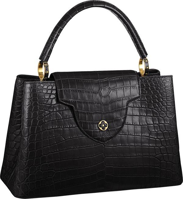 Ontdek alles over de Capucine handtas Croc versie van Louis Vuitton. Een geweldige handtas met een fenomenale afwerking.