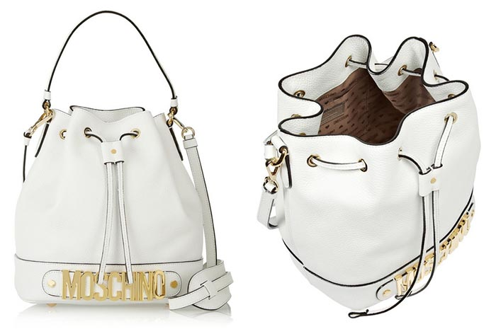 On trend: Moschino bucket bag. Alles over deze geweldige Moschino bucket bag. Laat je inspireren en kies eens voor een andere tas. Ga voor deze!