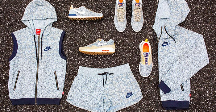 Nike x Liberty collectie 2014. Alles over de Nike x Liberty collectie 2014: Nike Air Max, Roshe Run en Nike Dunk Sky in een bloemen en paisley print.