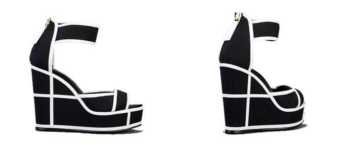 Gespot: zwart wit wedges van Pierre Hardy. Onlangs gespot: de zwart wit wedges van Pierre Hardy. Een geweldige musthave voor je schoenenkast!