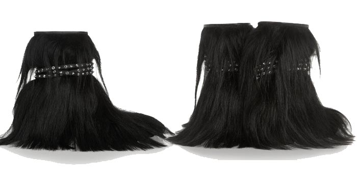 Saint Laurent fluffy boots. Alles over deze fluffy Saint Laurent boots voor de winter van 2014. Laat je inspireren en shop deze grappige musthave nu.