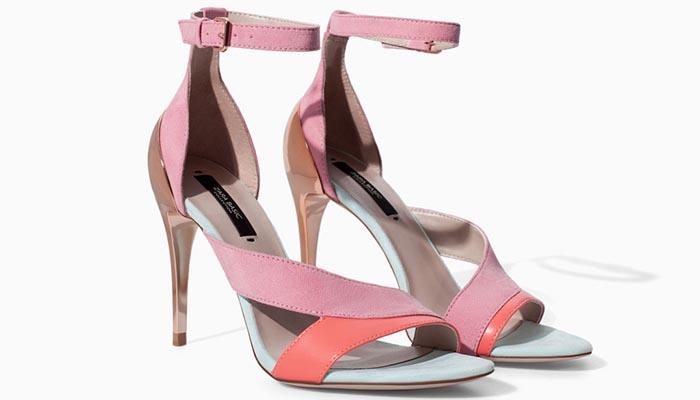 Colourblock is te gek! Vooral deze sandalen van Zara uitgevoerd in de colourblock stijl. Een echte musthave voor de zomer van 2014. Ontdek hier.