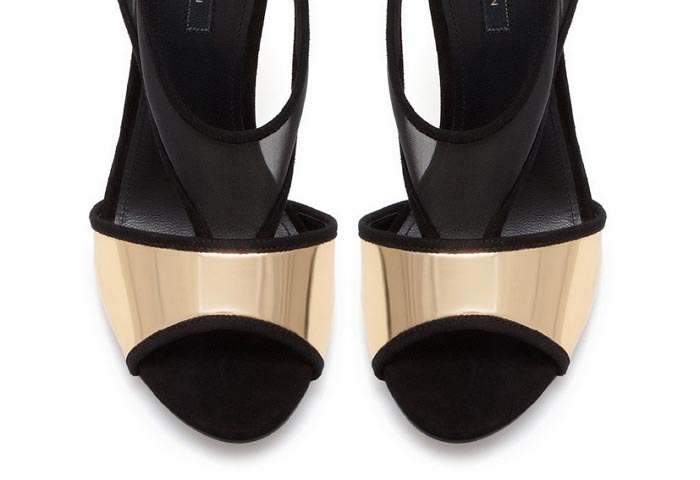 Musthave: Stijlvolle Zara hakken. Bekijk hier onze musthave van de dag: Stijlvolle Zara hakken met gaas en gouden details. Lees alles over deze pumps.