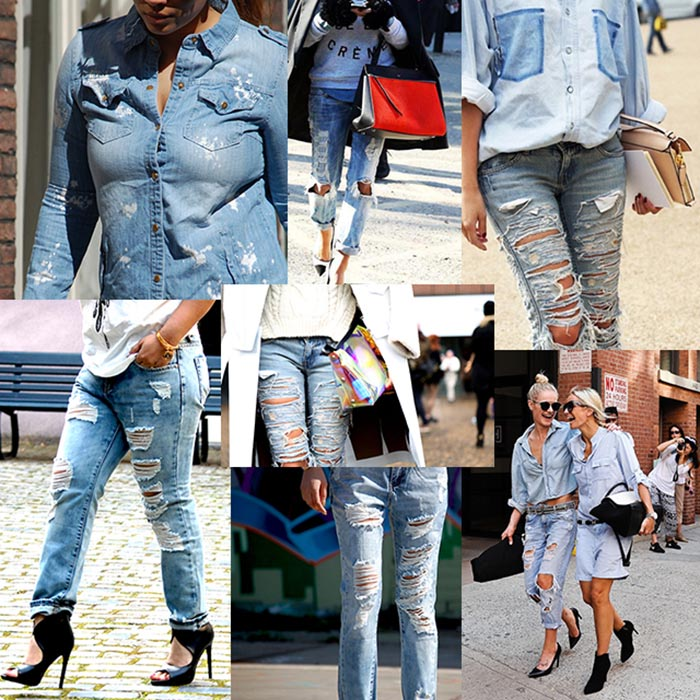Distressed jeans & high heels. Draag je distressed jeans & high heels stylish als een echte fashionista. Een fashion musthave en trend voor 2015.