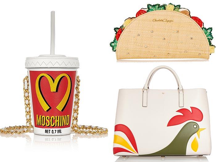 Designer bags met humor. Wta hebben Charlotte Olympia, Moschino en Anya Hindmarch met elkaar gemeen? Juist ja, grappige designer bags met humor!