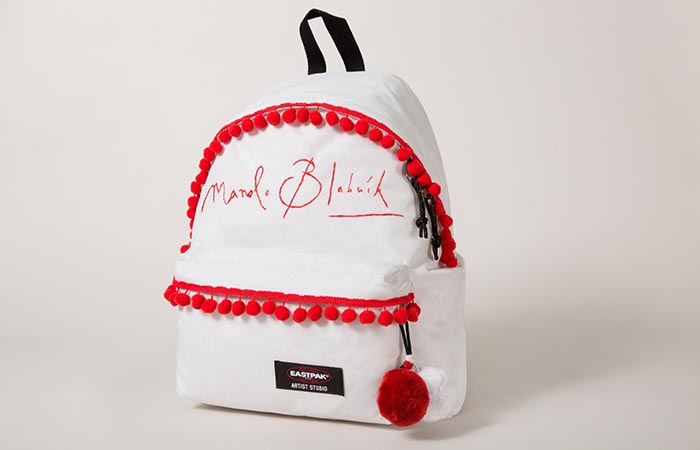 Eastpak x Manolo Blahnik limited edition rugtassen/ backpacks. Alles over Eastpak en de limited edition backpacks van Manolo Blahnik/ Gaultier.