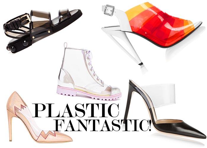 Rock de PVC trend: schoenen met een transparante touch. Alles over de PVC trend: doorzichtige schoenen en transparant voor de zomer van 2014.